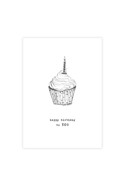 Kaart Greeting Card Cupcake