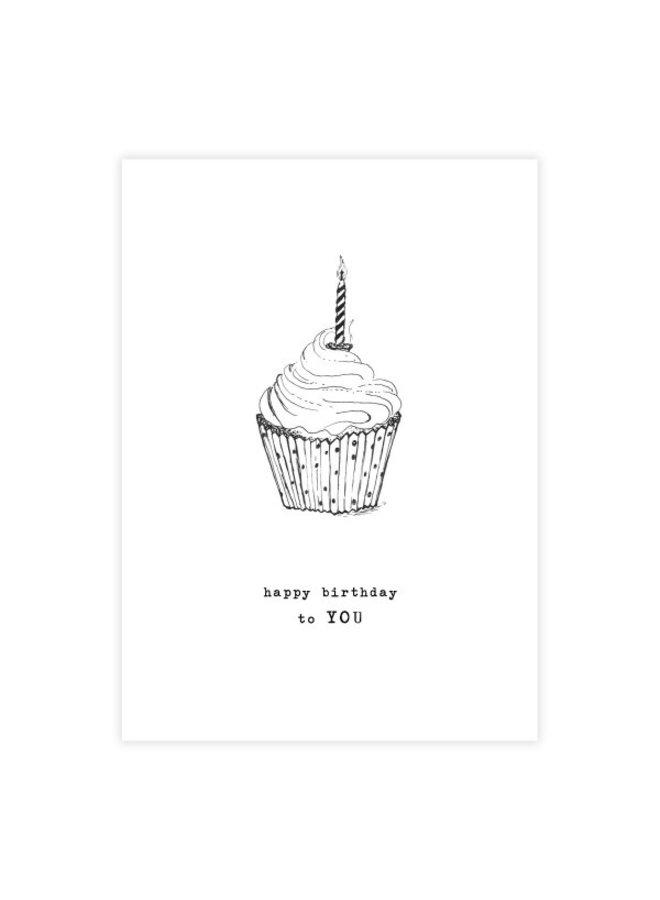 Kaart Greeting Card Cupcake