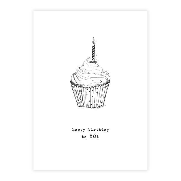 Kaart Greeting Card Cupcake-1