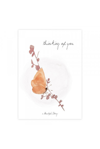 Kaart Greeting Card Butterfly