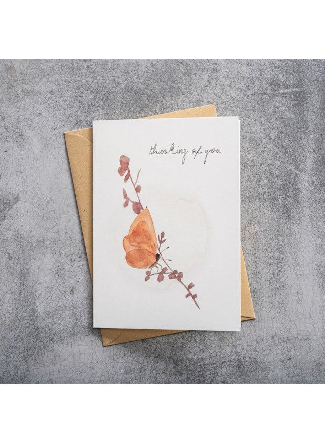 Kaart Greeting Card Butterfly