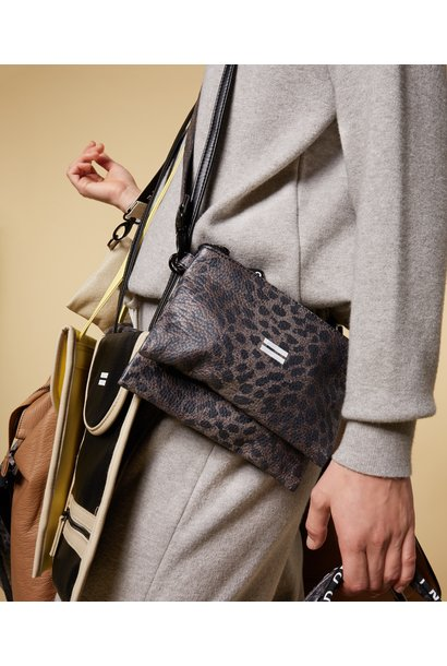 Tas make-up bag leopard camo