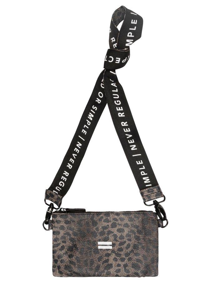 Tas mini pouch leopard camo desert taupe
