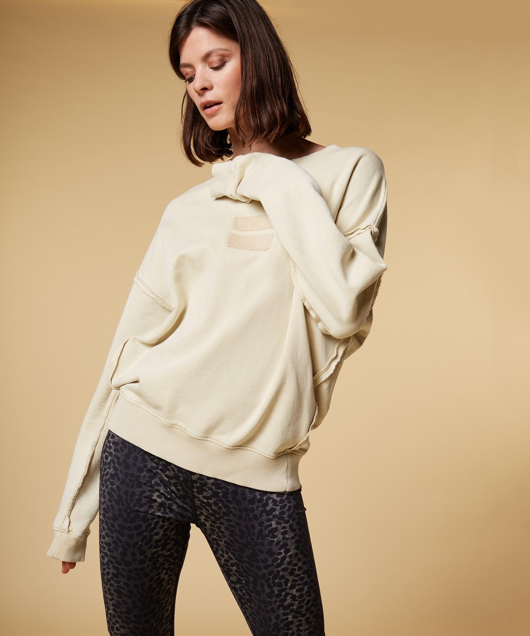 Trui oversized sweater washed dirty yellow-2