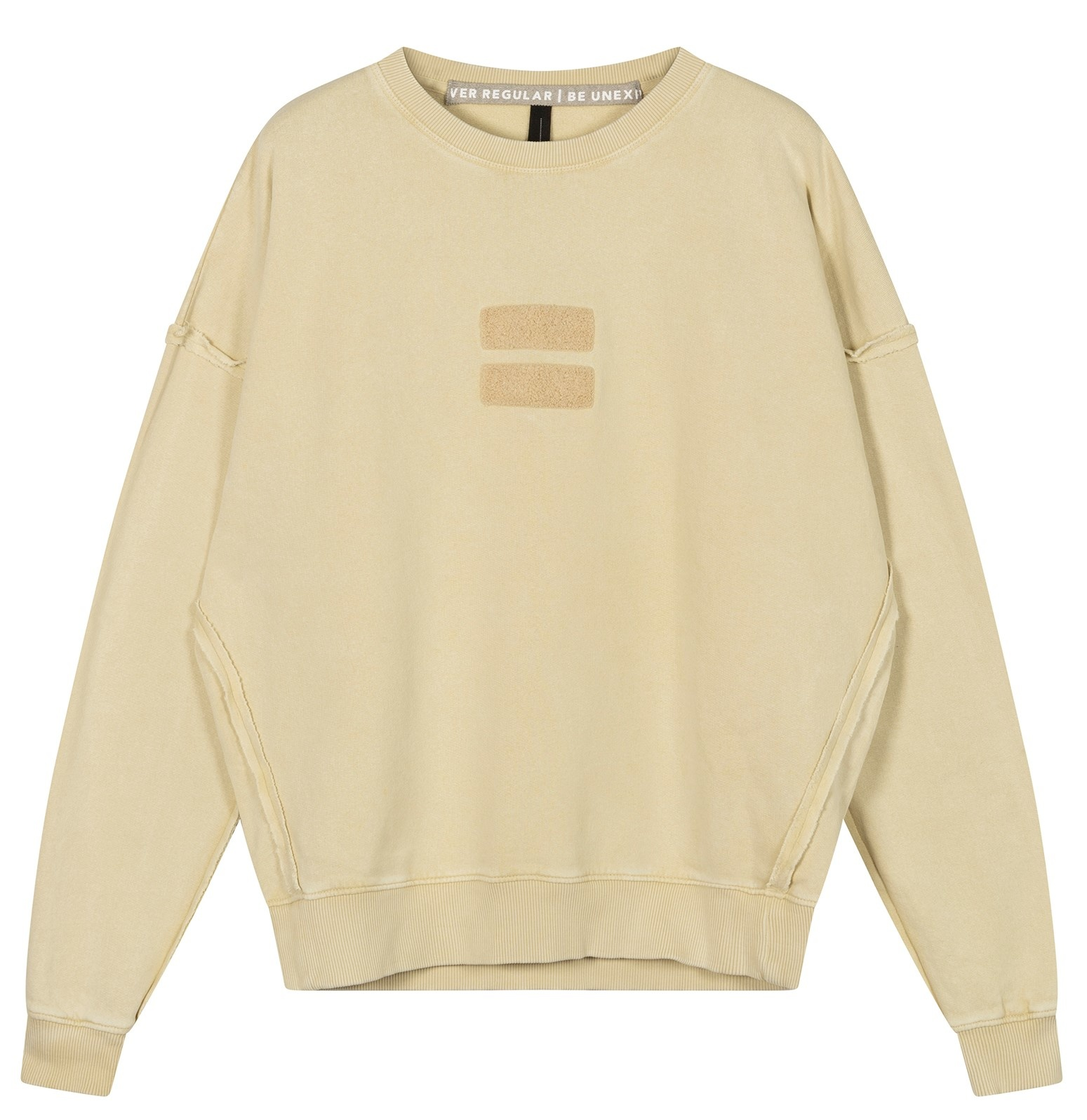 Trui oversized sweater washed dirty yellow-4