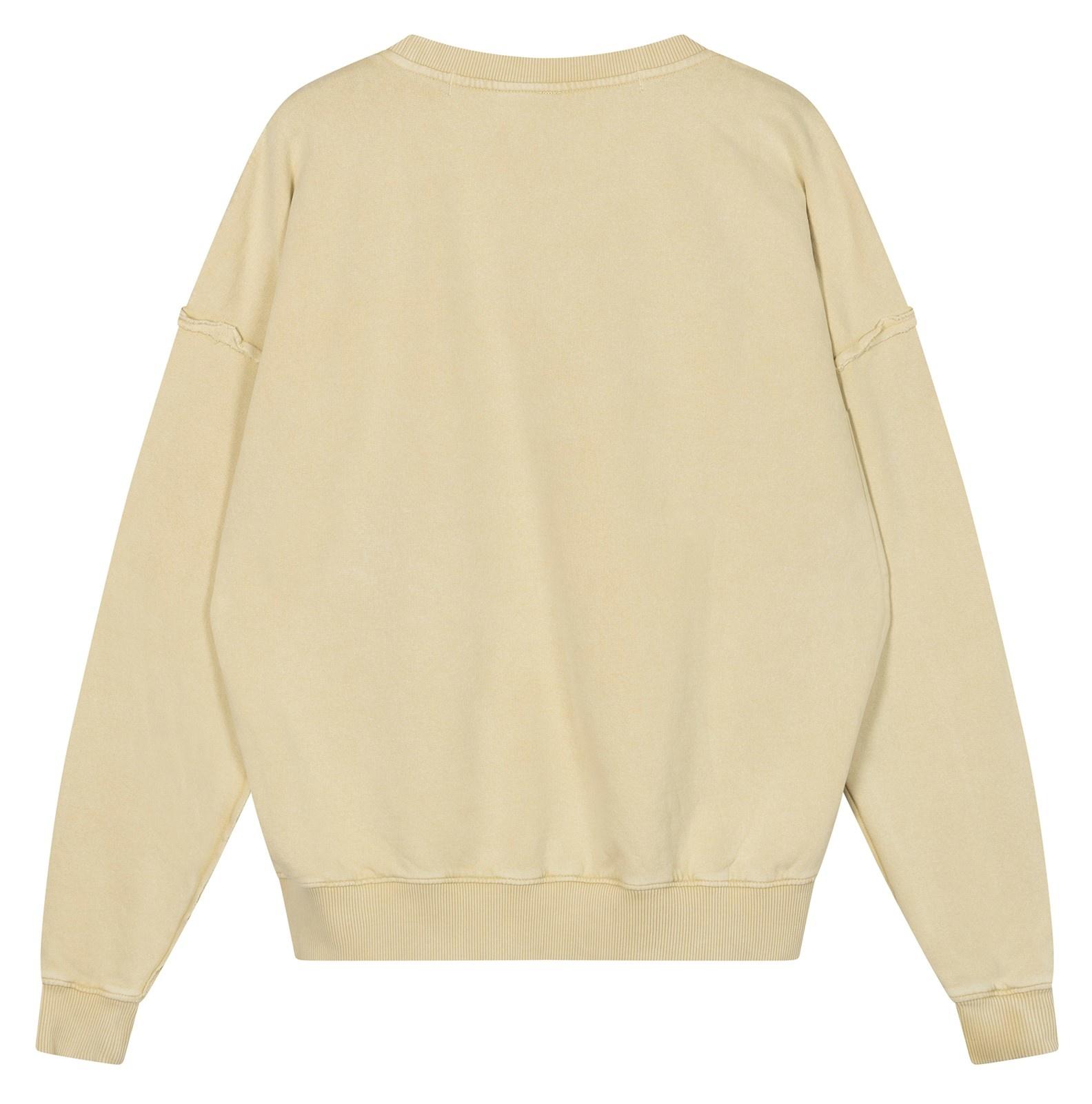 Trui oversized sweater washed dirty yellow-5