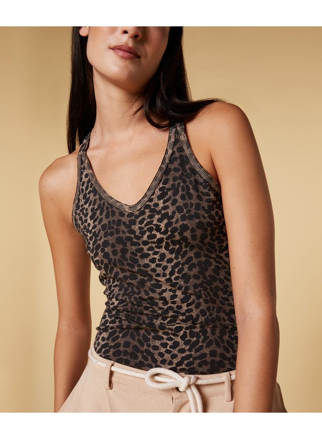 Top wrapper leopard camo desert taupe