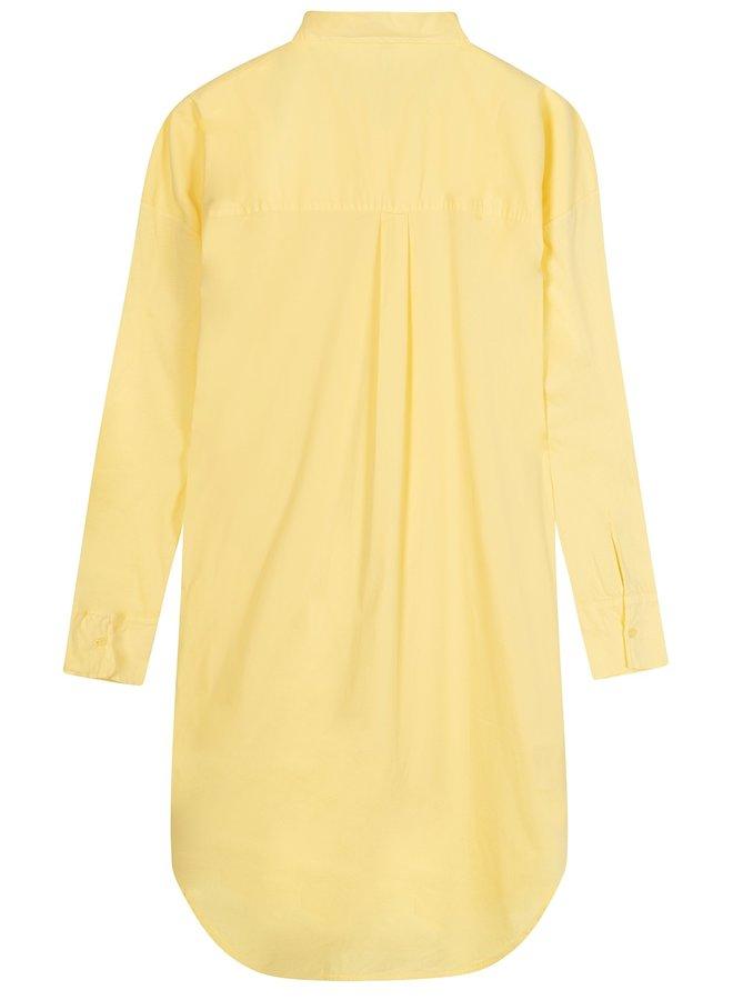 Jurk shirt dress lemon