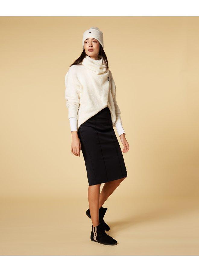 Rok scuba pencil skirt black