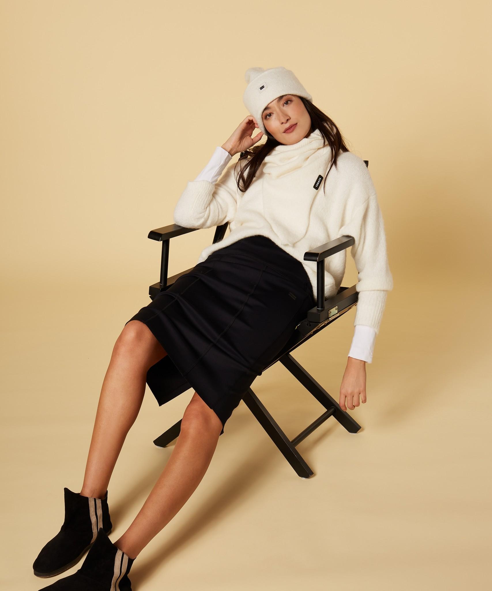 Rok scuba pencil skirt black-2