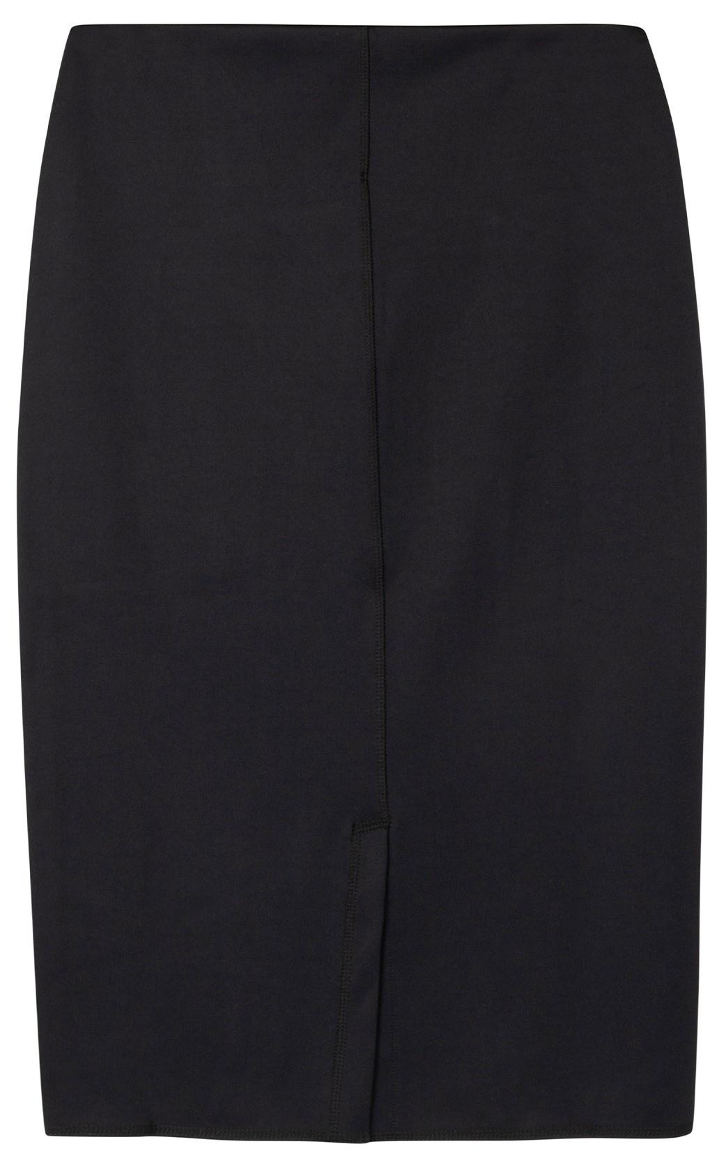Rok scuba pencil skirt black-3