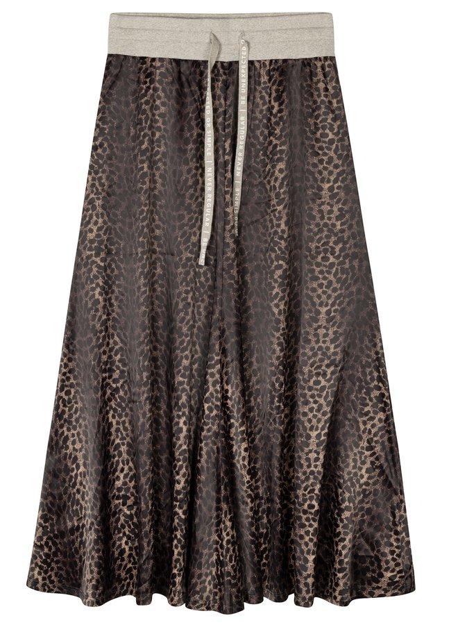 Rok skirt leopard camo desert taupe
