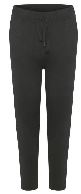 Broek KAkitlyn 7/8 knit pants black deep-2