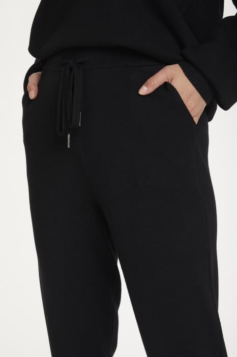 Broek KAkitlyn 7/8 knit pants black deep-4