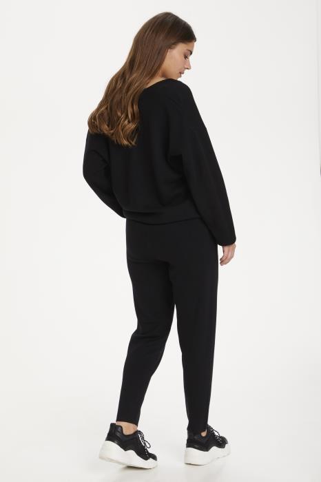 Broek KAkitlyn 7/8 knit pants black deep-7
