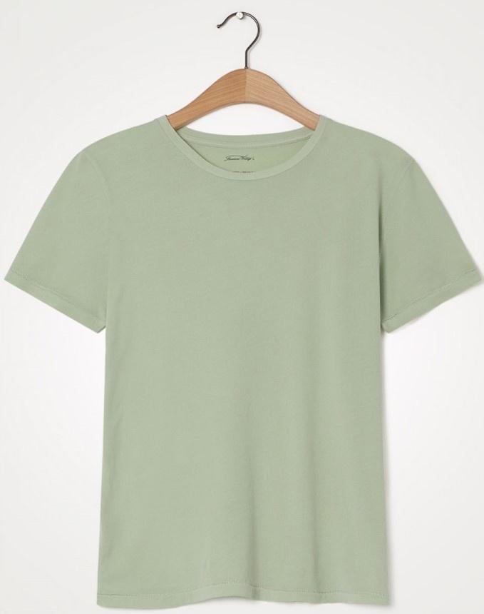 T-shirt Vegiflower vert amande-1
