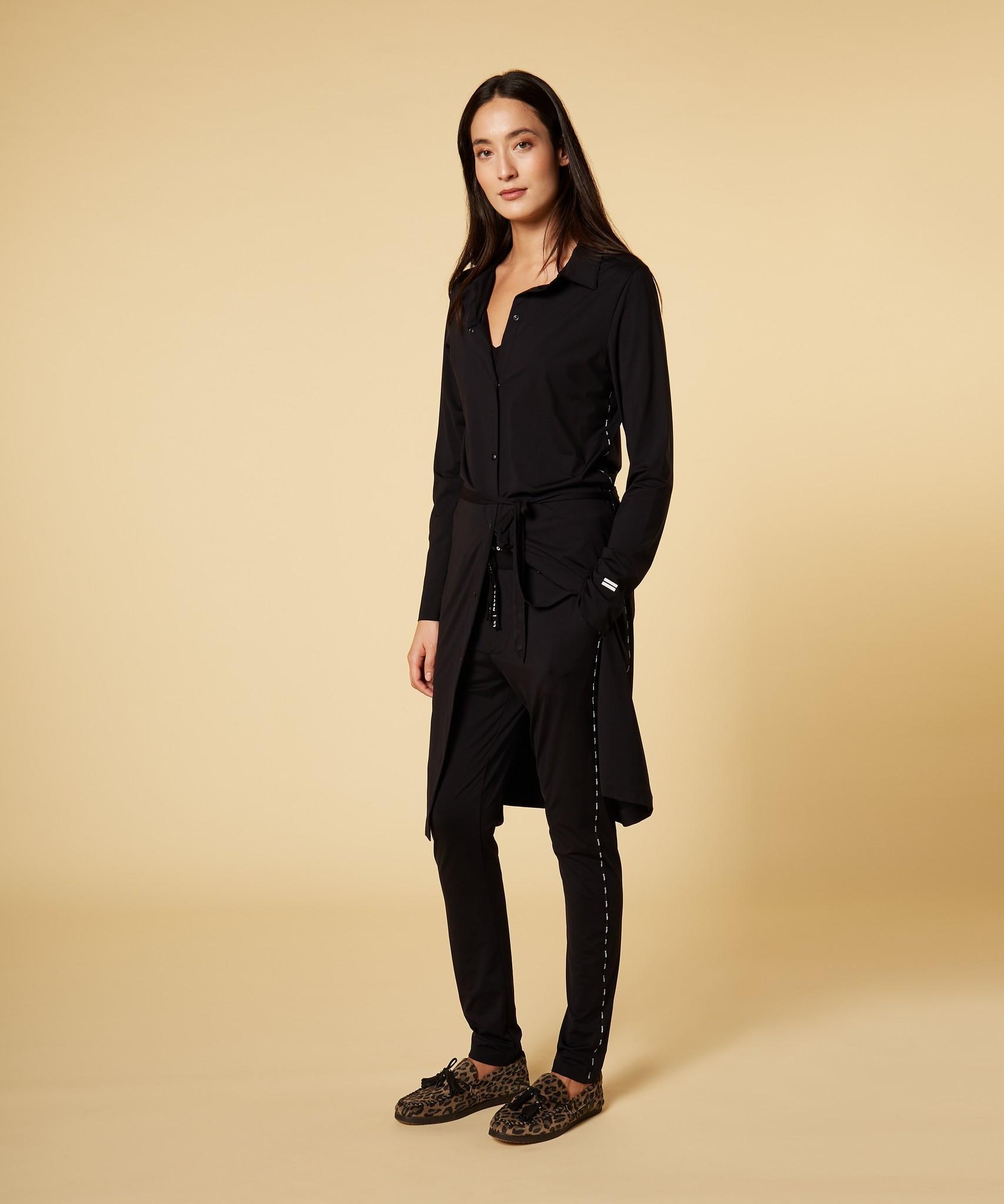 Jurk shirt dress black-3
