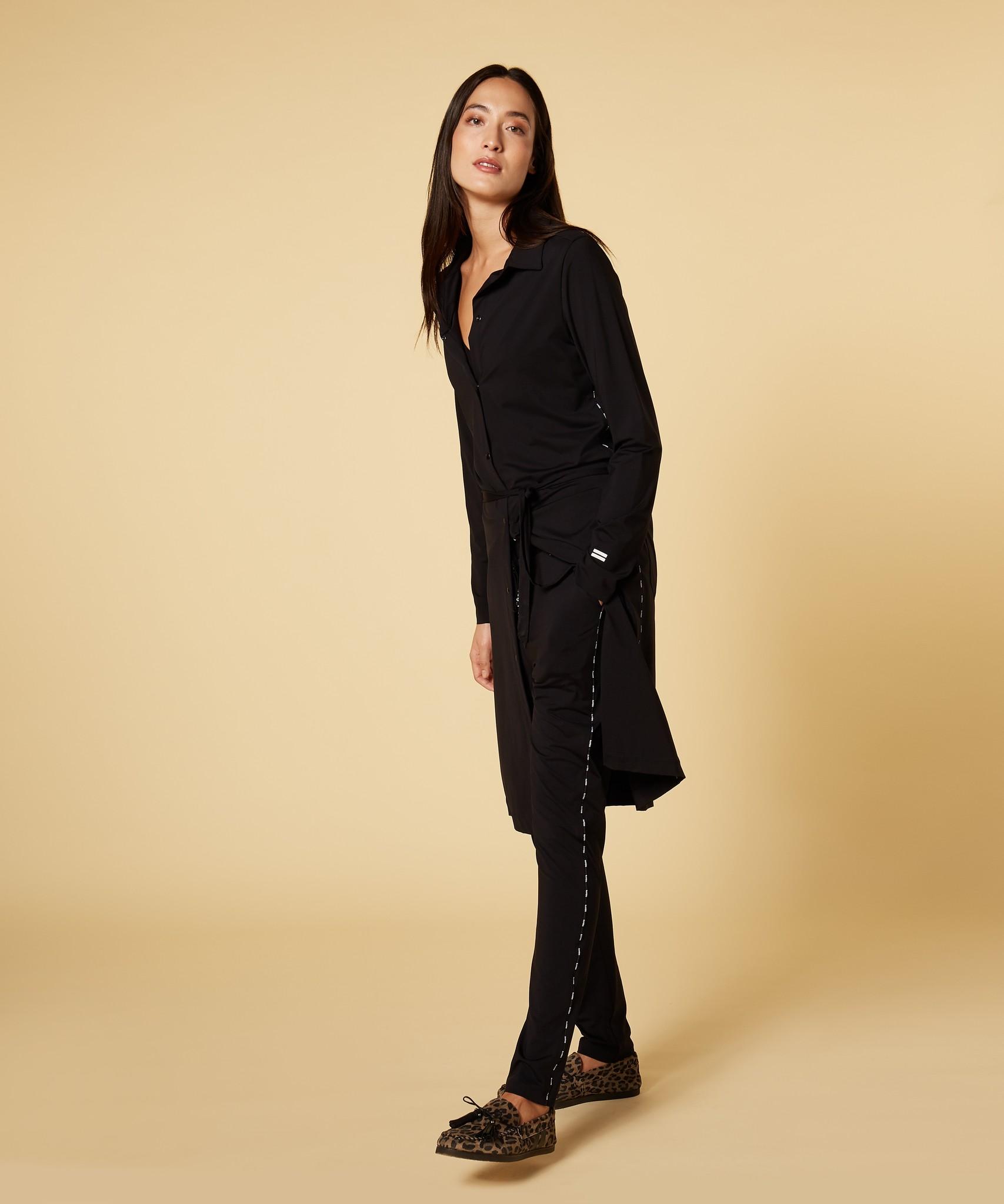 Jurk shirt dress black-4