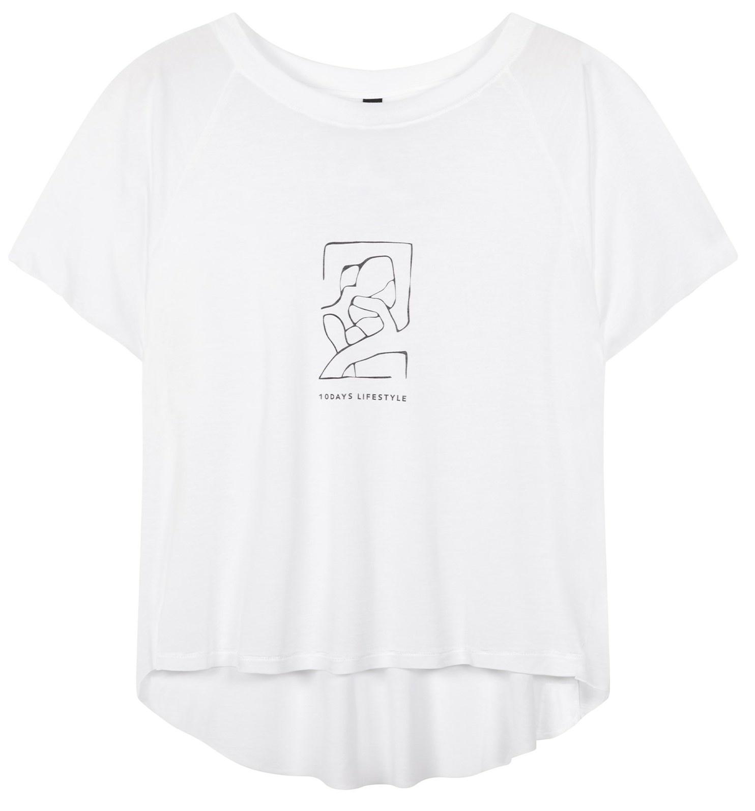 T-shirt shortsleeve tee sketch white-2