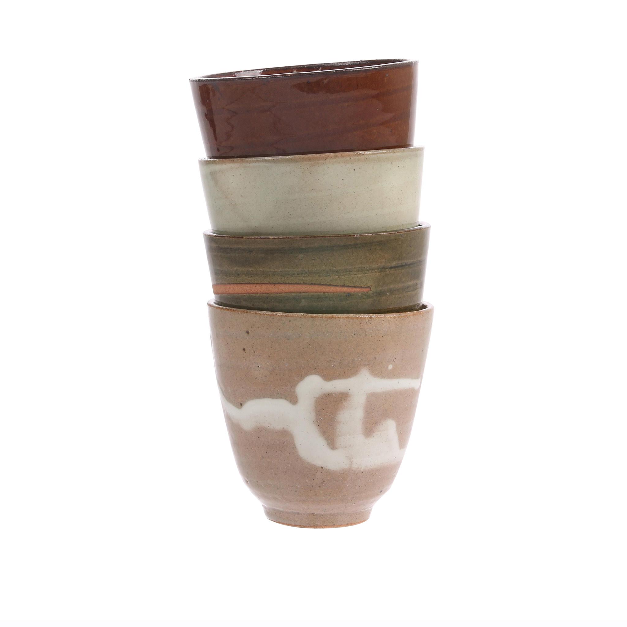 Mok kyoto ceramics: japanese yunomi mugs light pink-3