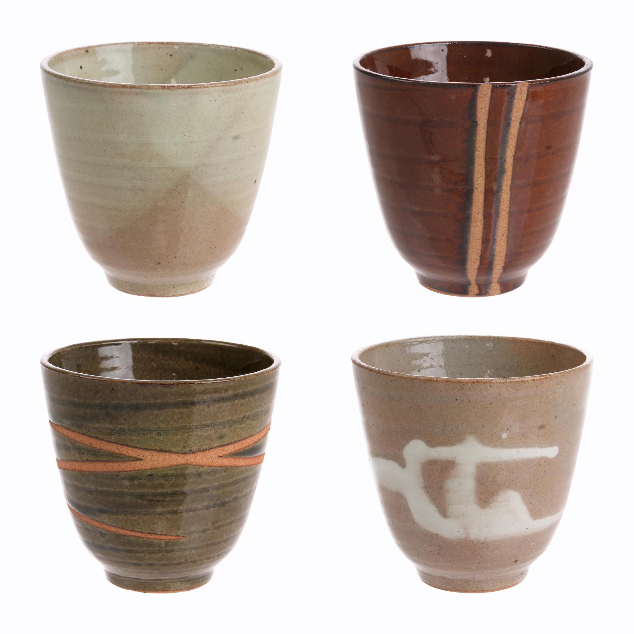 Mok kyoto ceramics: japanese yunomi mugs bruin-2