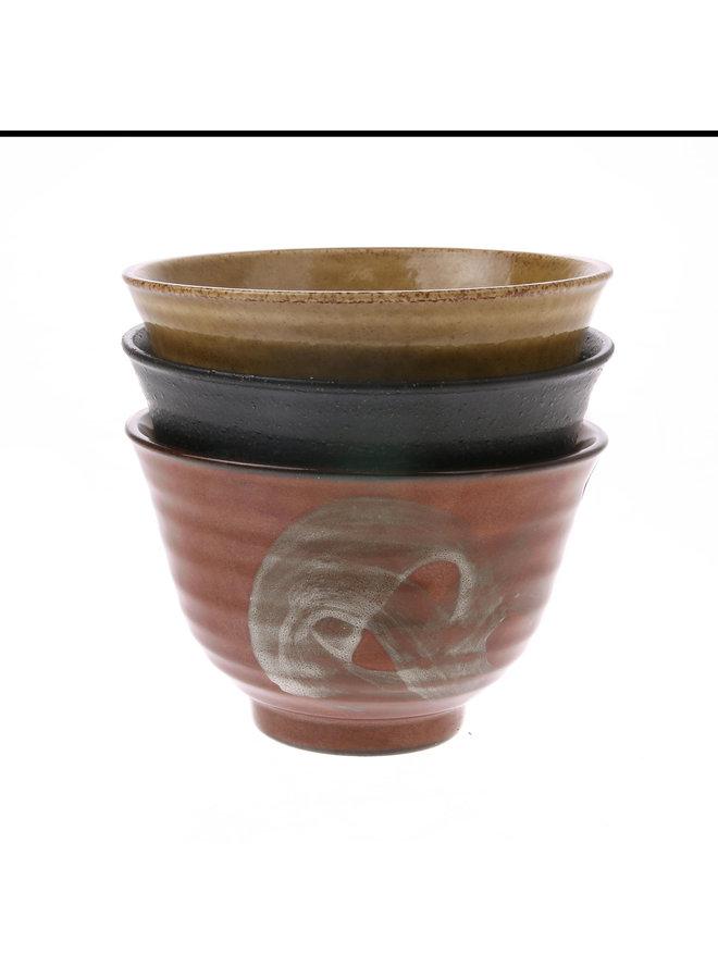 Kom kyoto ceramics: japanese matcha bowl bruin