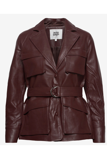 Jas Cecilia jacket reddish brown