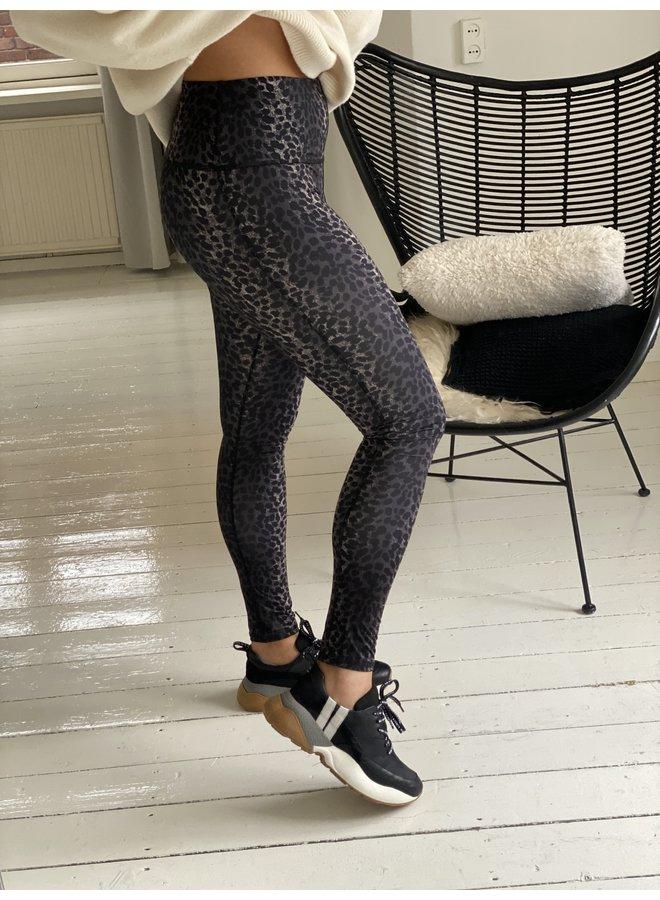 Legging yoga leopard camo desert taupe