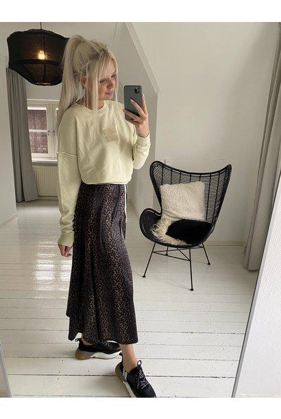 Trui oversized sweater washed dirty yellow