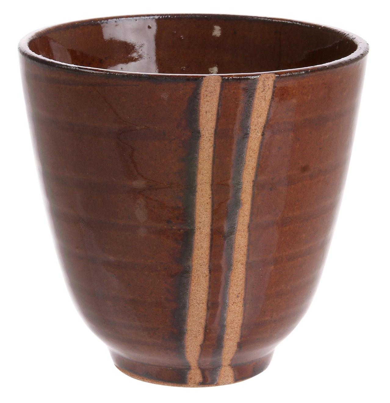 Mok kyoto ceramics: japanese yunomi mugs bruin-1