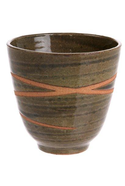 Mok kyoto ceramics: japanese yunomi mugs green