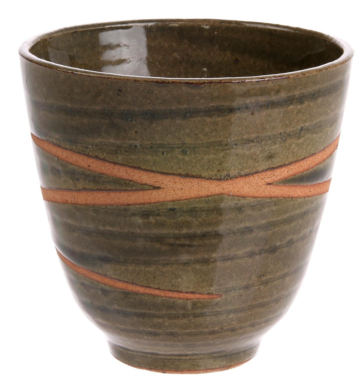 Mok kyoto ceramics: japanese yunomi mugs green-1