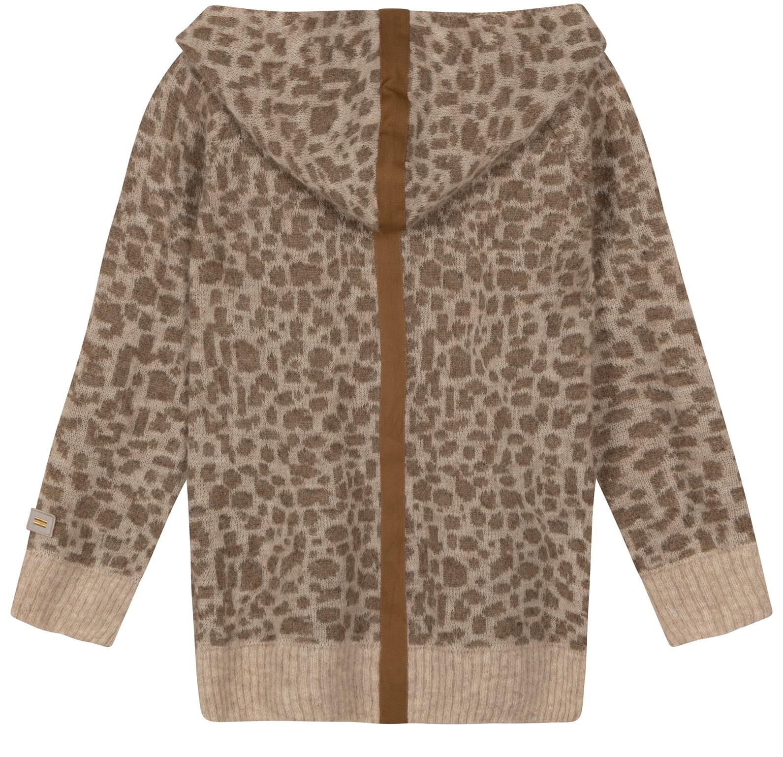 Trui Soft hoodie leopard caramel-3