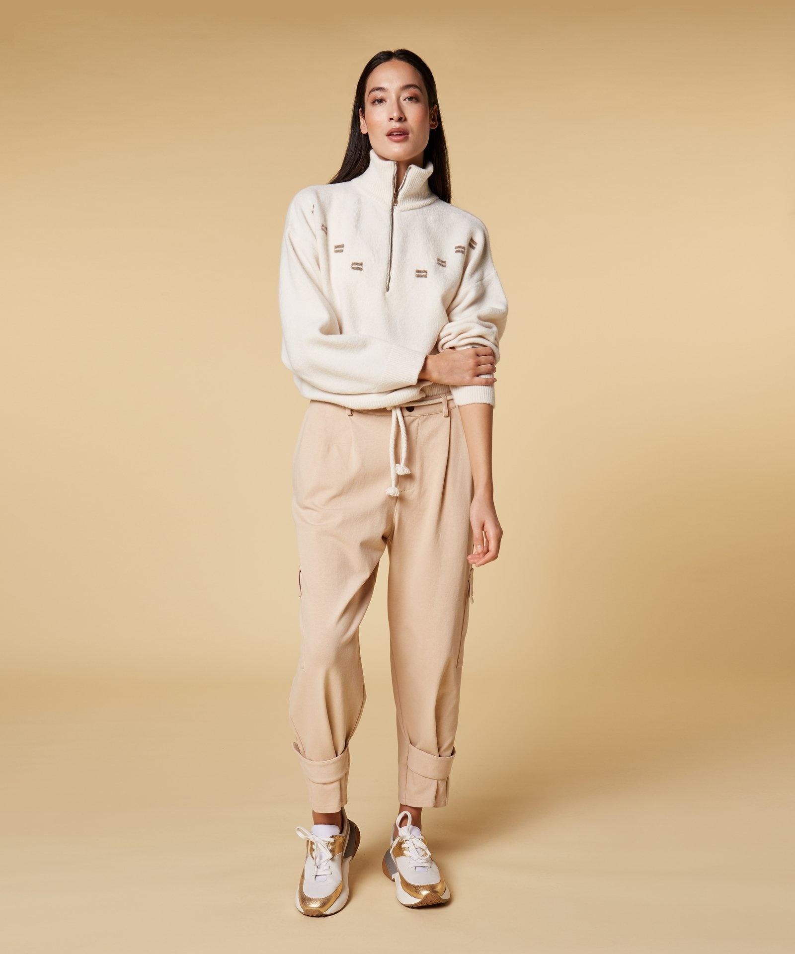Broek Utility pants soft beige-3