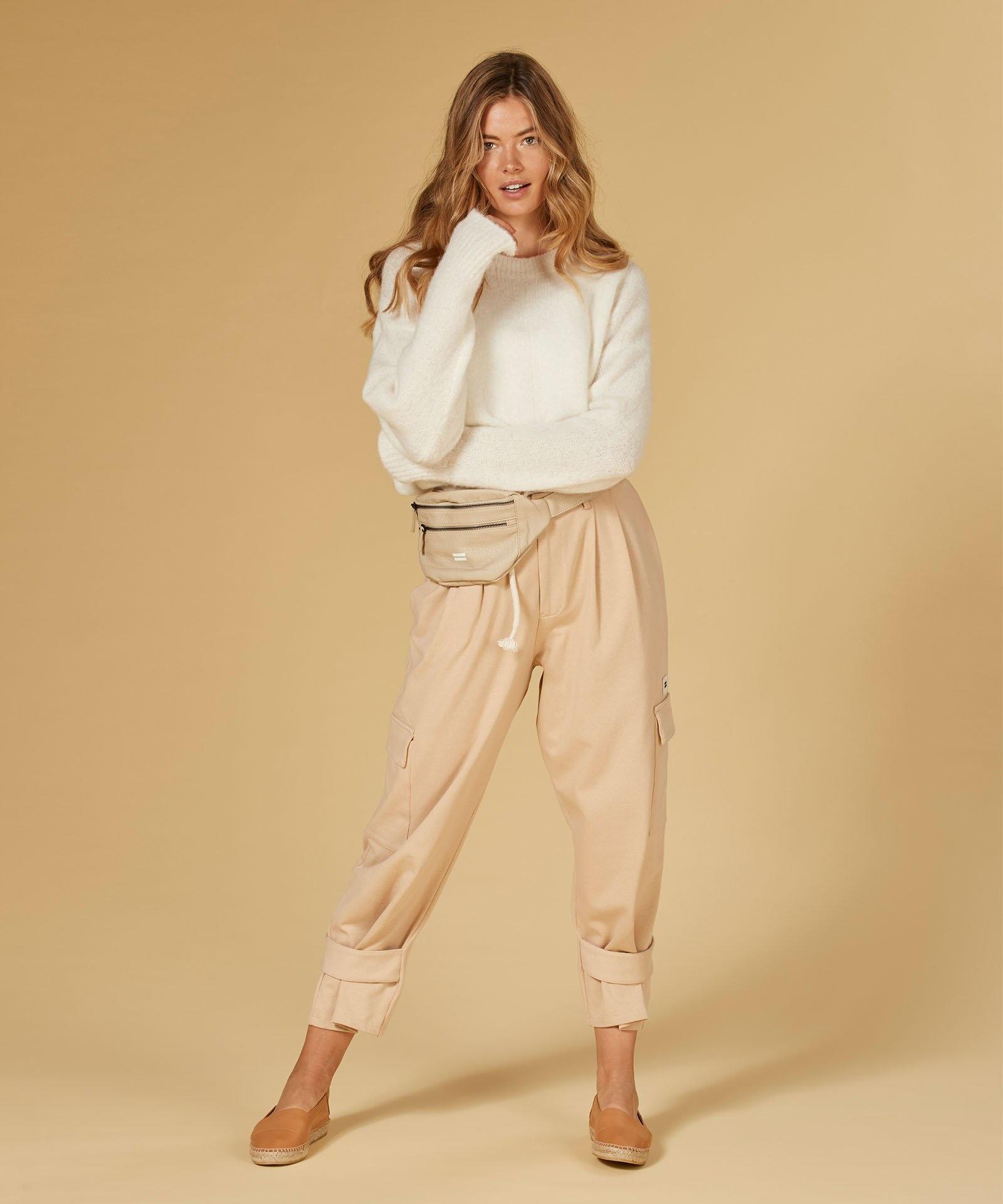 Broek Utility pants soft beige-1