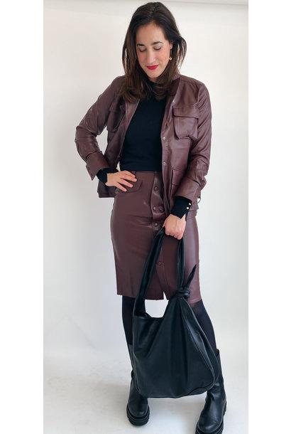 Rok Karin skirt Reddish Brown