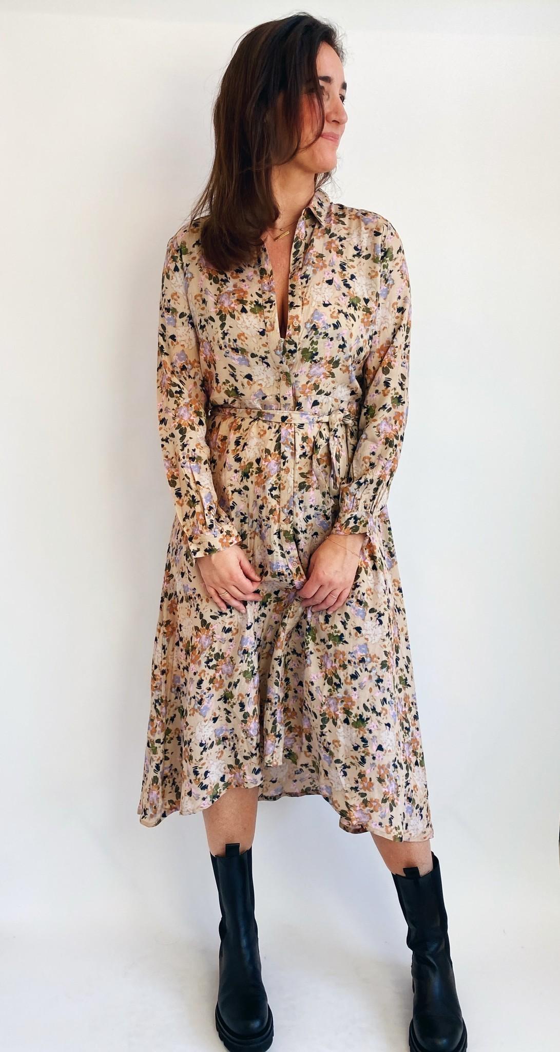 Jurk KAelina shirt dress nomad watercolor-1