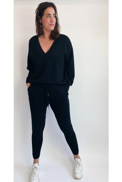 Trui KAkitlyn knit pullover black deep