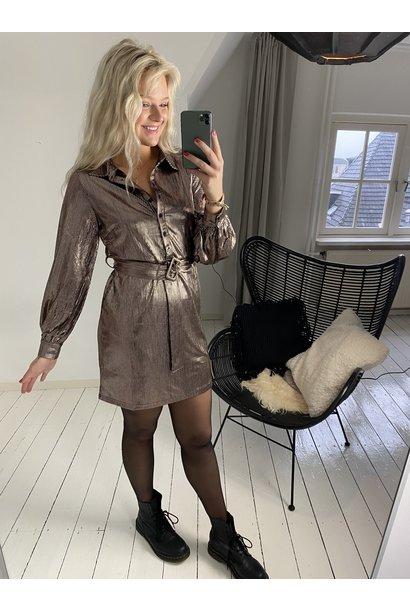 Jurk  Serena dress gold