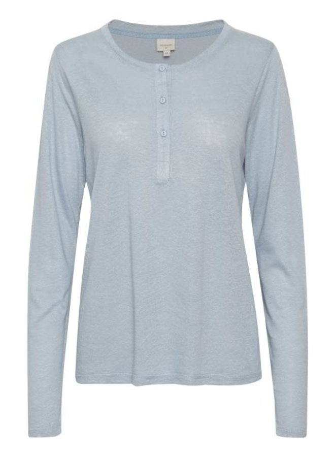 Top CRKary granddad t-shirt dusty blue