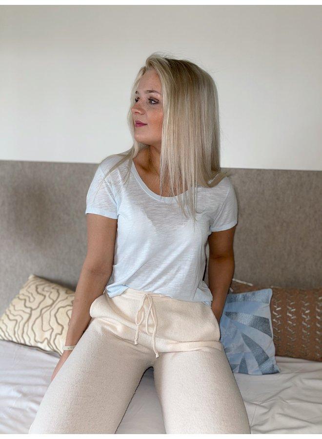 T-shirt Vegiflower blanc