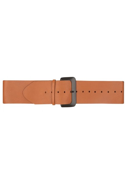 Riem Big leather belt cognac
