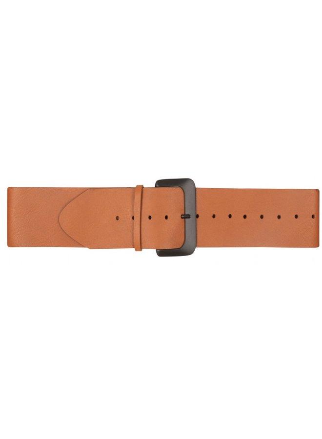 Riem Big leather belt cognac