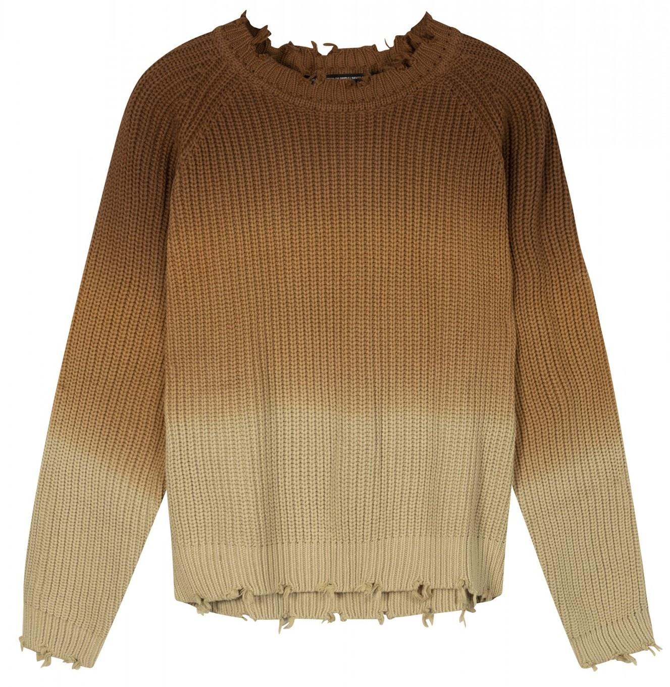 Trui sweater degrade dark caramel-1