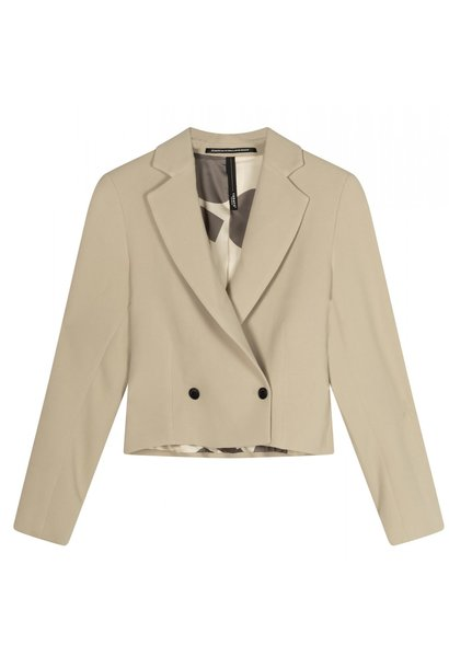 Blazer Cropped light safari