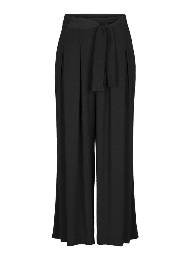 Broek Wanda crepe pant jet black