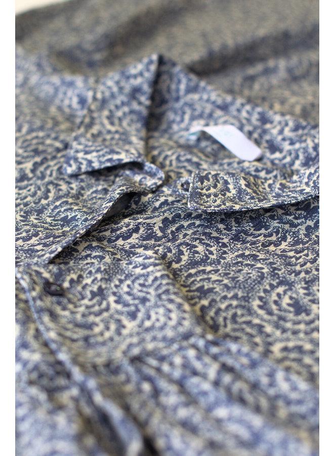Jurk Yara botanic dress blue