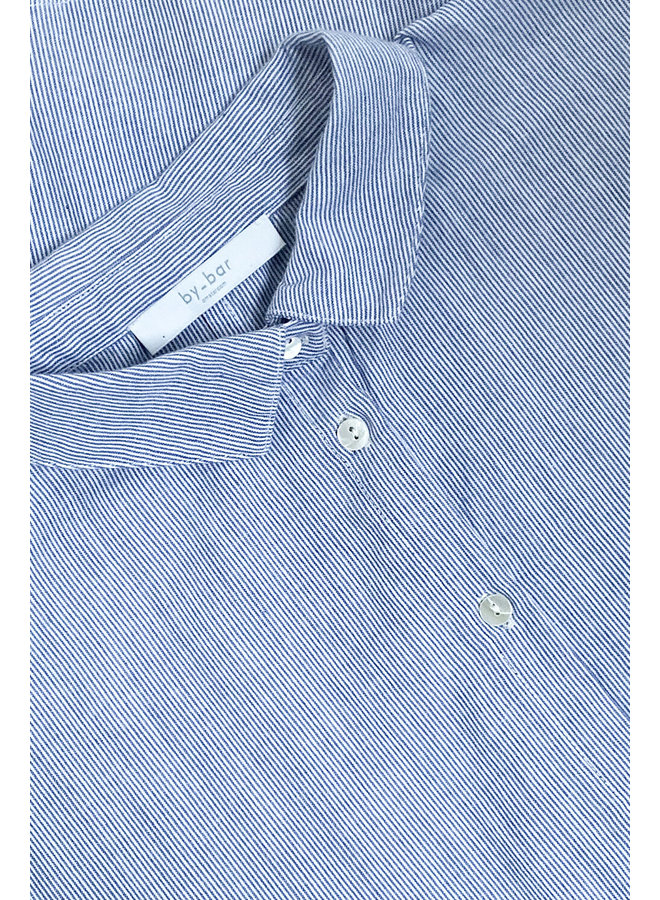 Blouse Norel pin stripe indi grey
