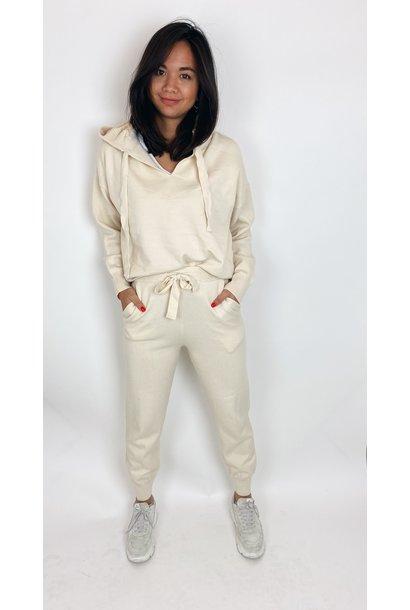Lounge pak comfort suit capuchon beige