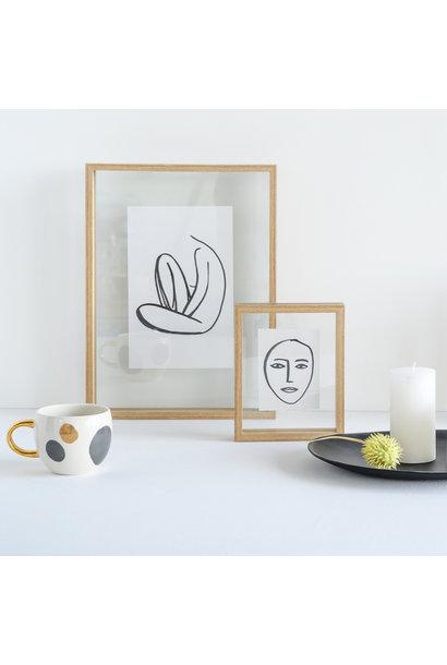 Fotolijst  floating frame Aesthetic L, natural